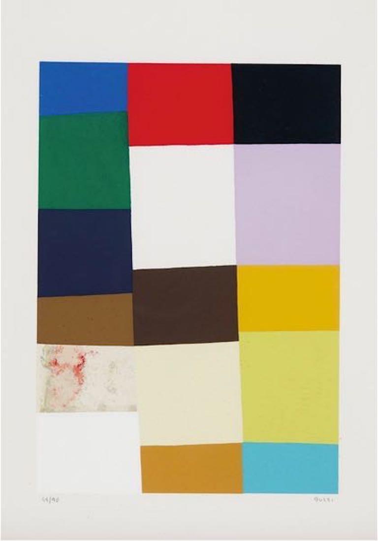 Alberto Burri Abstract Print - Untitled (Calvesi 47)