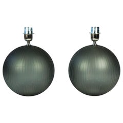 Alberto Donà Mid-Century Modern Grey Molato Two of Murano Glass Table Lamps 1998