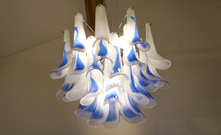 Alberto Donà Mid-Century Modern Crystal Murano Glass Selle Chandelier, 1992s For Sale 5