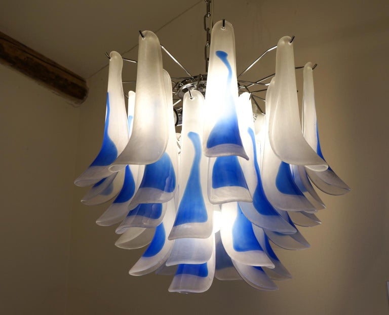 Alberto Donà Mid-Century Modern Crystal Murano Glass Selle Chandelier, 1992s For Sale 1