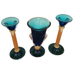 Alberto Donà Set of 3 Pièces '2 candlesticks and 1 vase'