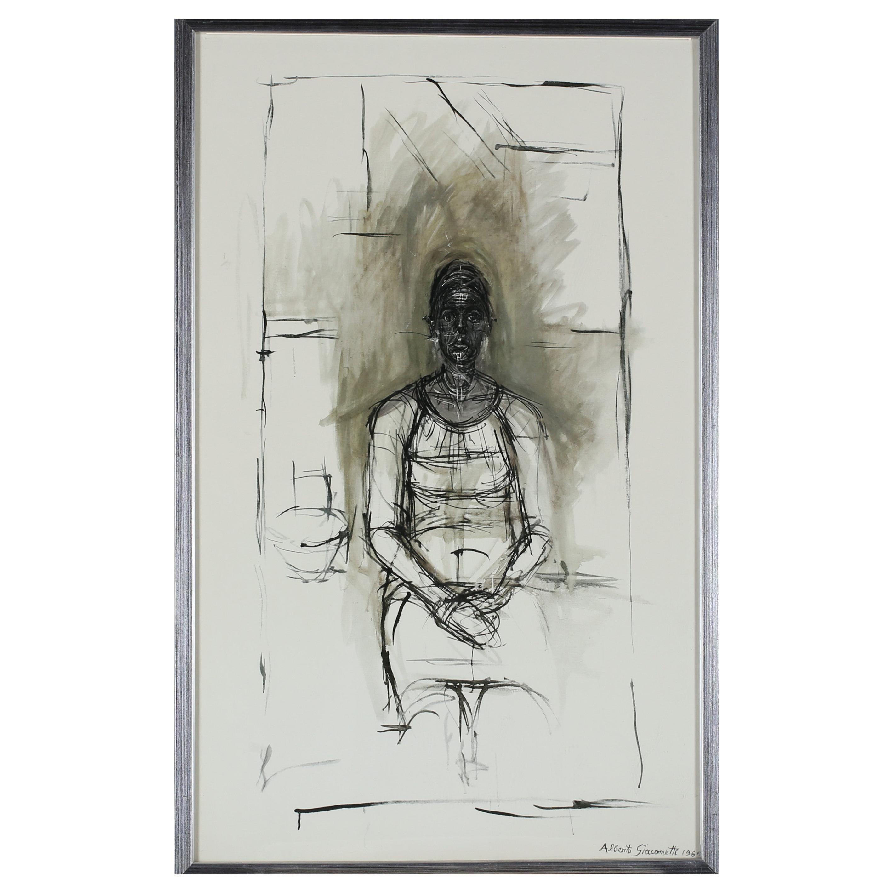 "Alberto Giacometti after ""Caroline"" Offset Print, 1965"