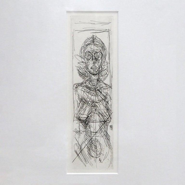 Mid-Century Modern Alberto Giacometti 'Annette de Face' Lithography, 1955 For Sale