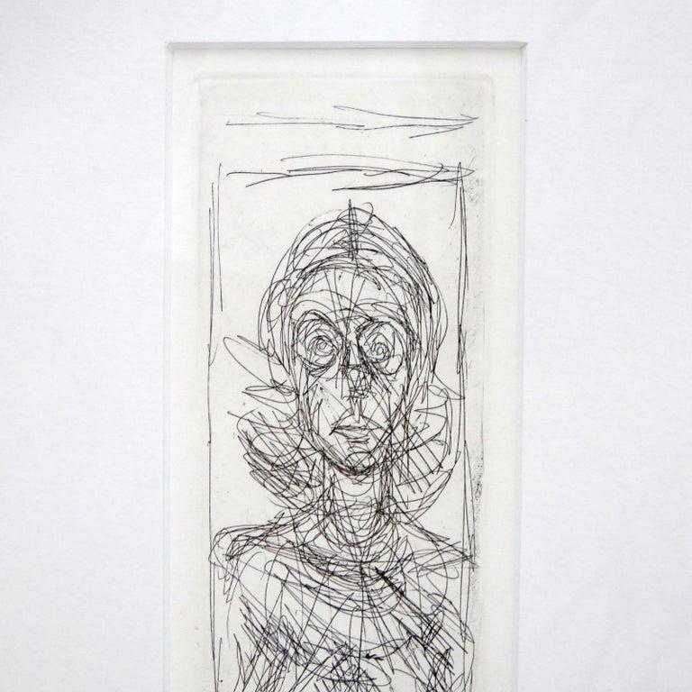European Alberto Giacometti 'Annette de Face' Lithography, 1955 For Sale