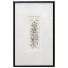 Alberto Giacometti 'Annette de Face' Lithography, 1955