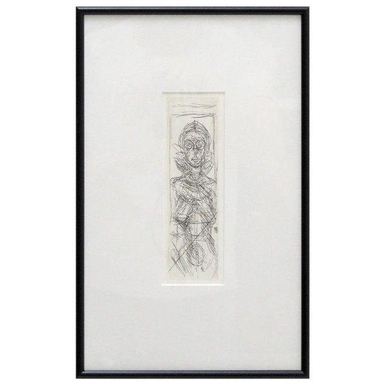 Alberto Giacometti 'Annette de Face' Lithography, 1955 For Sale