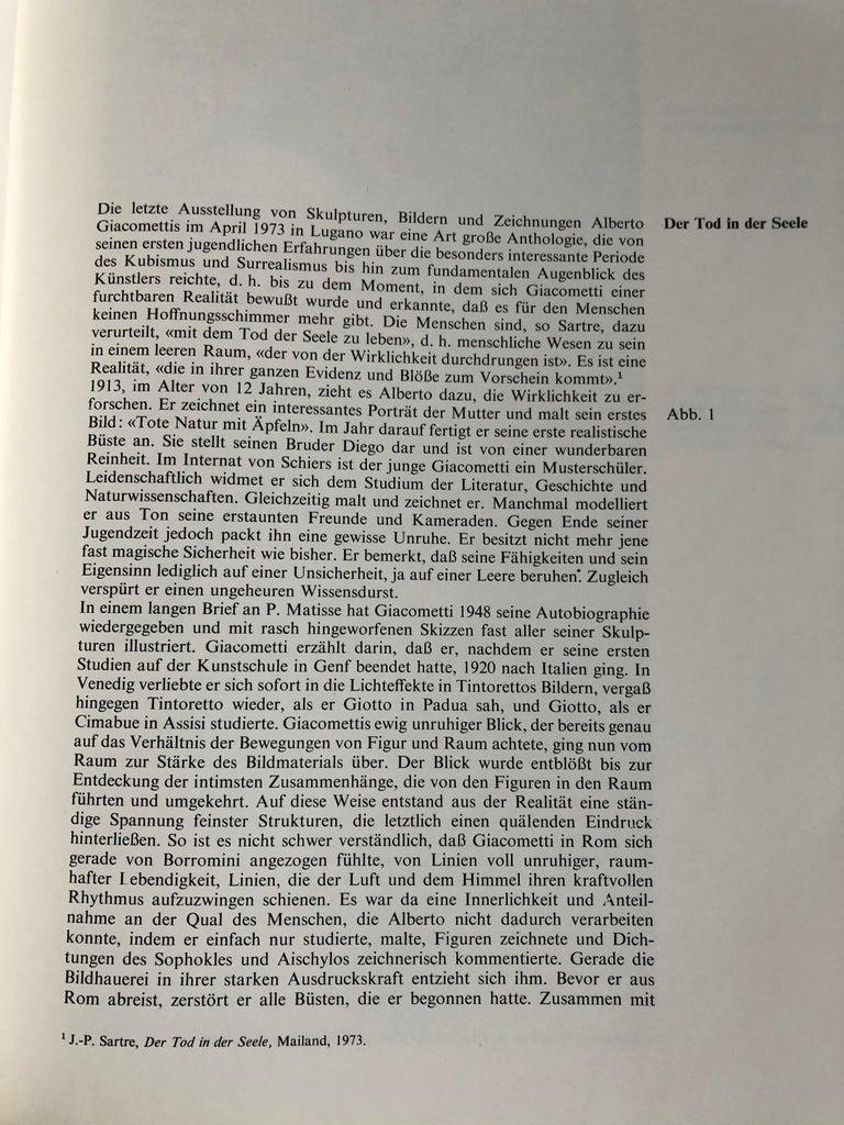 Swiss Alberto Giacometti by Arturo Bovi Album, Switzerland 1974 For Sale