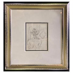 """Alberto Giacometti Framed Black and White Limited Lithograph """"Annette"""", 1964"""
