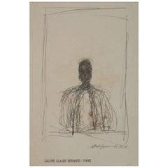 Alberto Giacometti Galerie Claude Bernard Original Vintage Poster