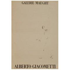 Alberto Giacometti Galerie Maeght Original Vintage Poster