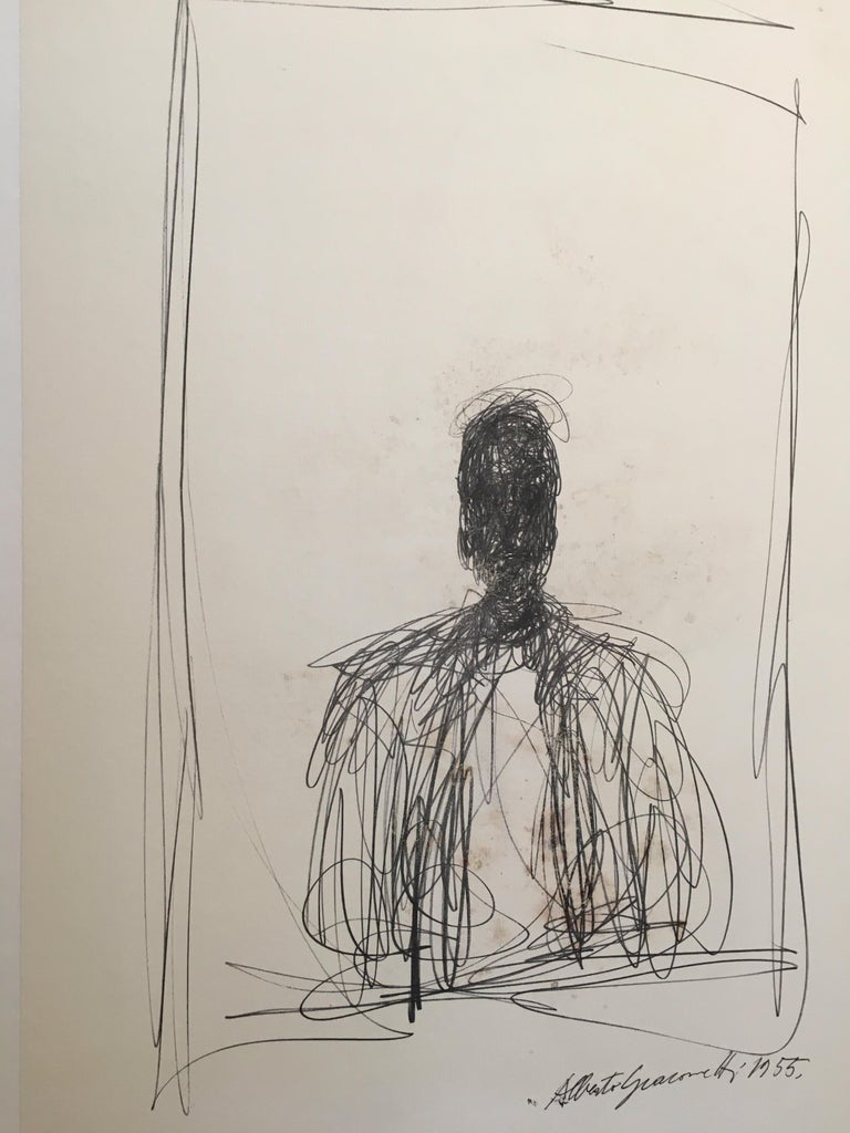 Alberto Giacometti Original Galley and Exhibition Poster, Galerie Claude Bernard In Good Condition For Sale In Melbourne, Victoria