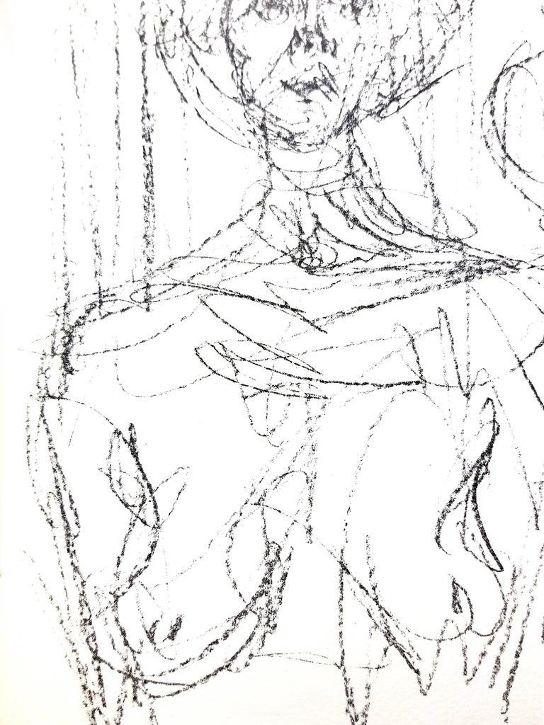 Alberto Giacometti - Composition - Original Lithograph For Sale 1