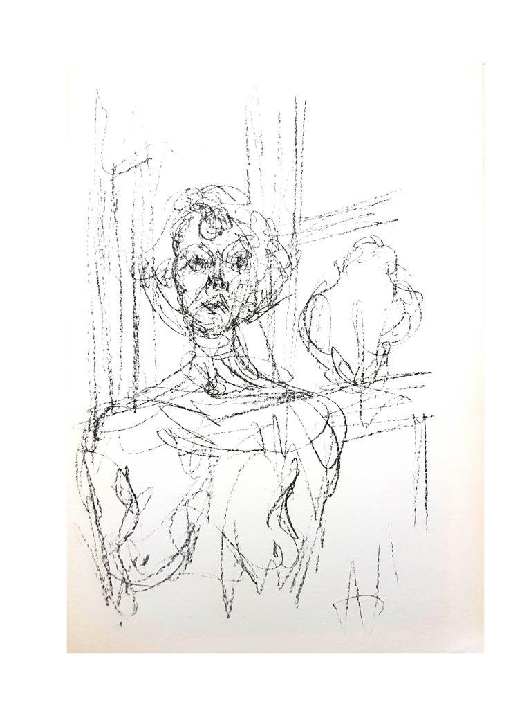 Alberto Giacometti - Composition - Original Lithograph For Sale 2