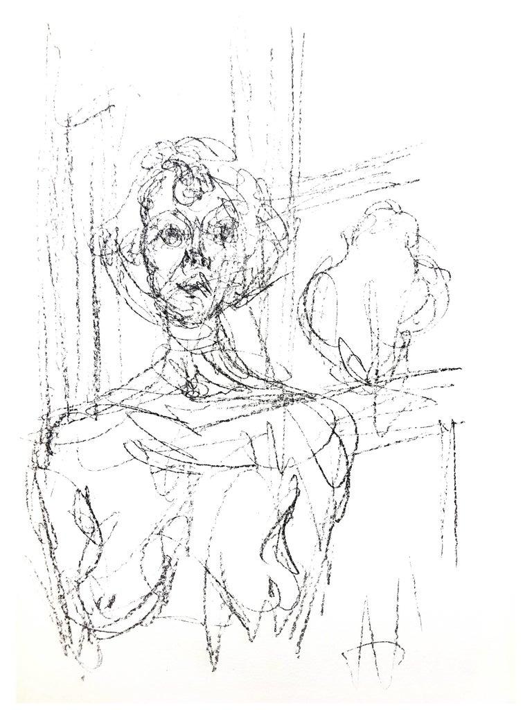 Alberto Giacometti - Composition - Original Lithograph - Print by Alberto Giacometti