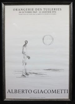 Alberto Giacometti Orangerie des Tulieries 1969 exhibition poster