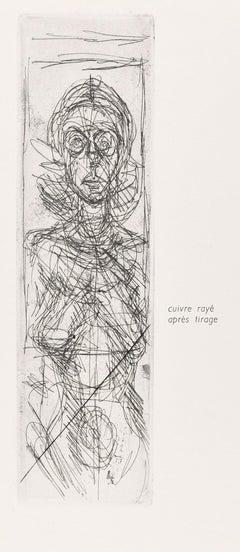 Annette De Face - Original etching by Alberto Giacometti - 1955
