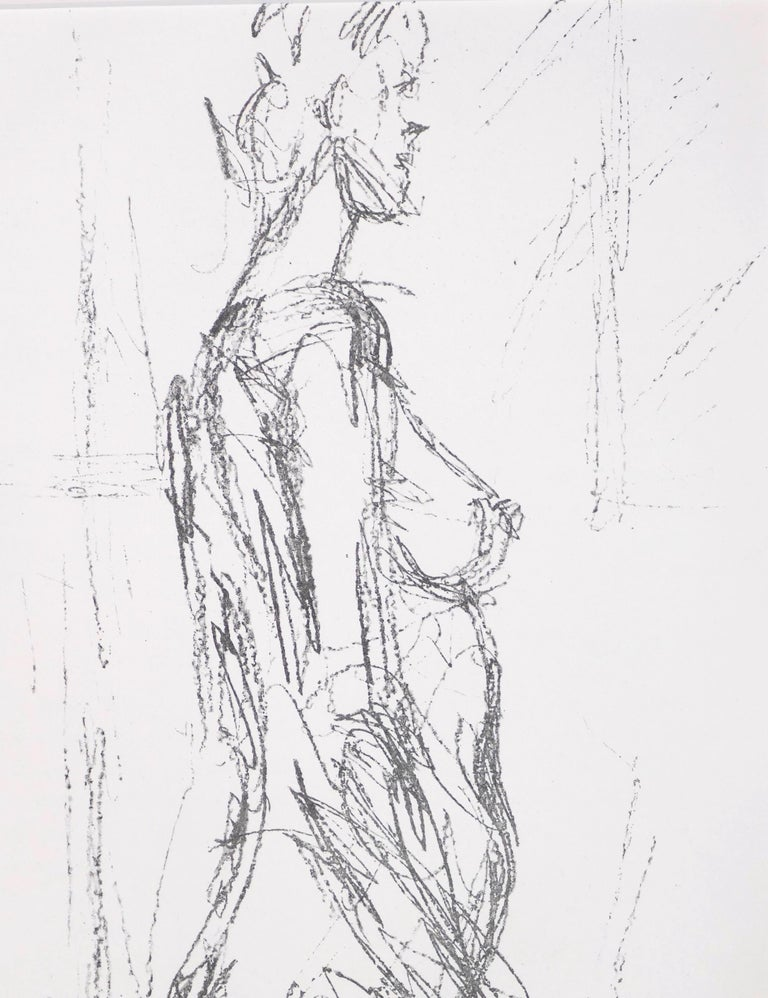Annette Standing - Original Lithograph by Alberto Giacometti - 1961 For Sale 1