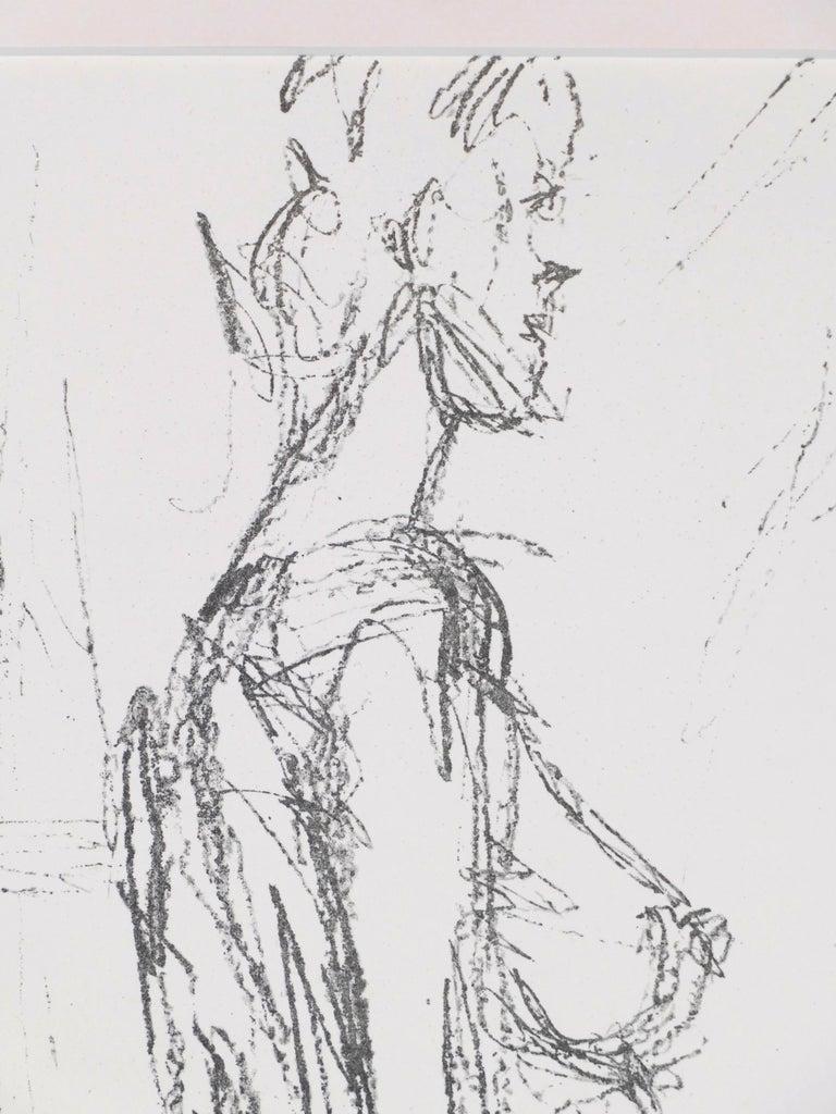 Annette Standing - Original Lithograph by Alberto Giacometti - 1961 For Sale 2
