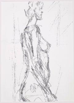 Annette Standing - Original Lithograph by Alberto Giacometti - 1961