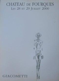 Giacometti Lithograph Exhibition Poster 2000