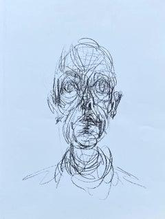 Head Of Man - Original Lithograph #Lust155