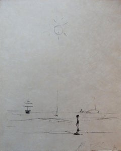 Man at the Sea - Original Lithograph - Handsigned & Limited 23copies / 1961