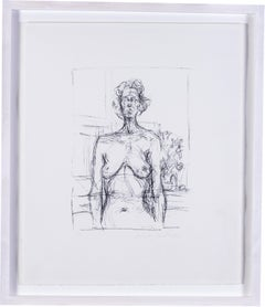 Italian 20th Century lithograph of a nude by the Italian Master Giacometti