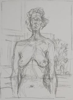 Nude with Flowers  Nu aux fleurs - Italian Art, Swiss Artist, Scultural