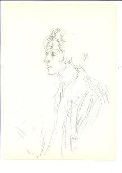 Portrait - Original Lithograph by Alberto Giacometti - 1964