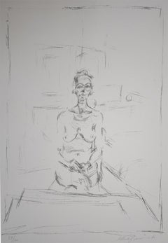 Seated Nude  Nu Assis -Hand Signed Lithograph Swiss Edition of 100