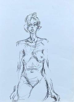 Seated Nude - Original Lithograph #Lust148