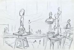 Studio With Sculptures - Original Lithograph #Lust159