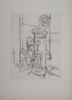 The Charcoal Stove - Original Etching, 1956