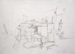 The Studio with Bottles  L'Atelier aux Bouteilles -  Artist Studio Interiors