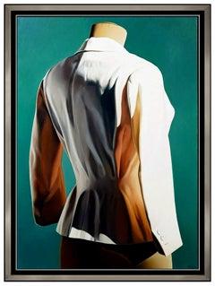 Alberto Magnani Large Original Oil Painting On Canvas Signed Modern Fashion Art