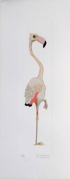 Flamingo - Original Lithograph by Alberto Mastroianni - 1970 ca.