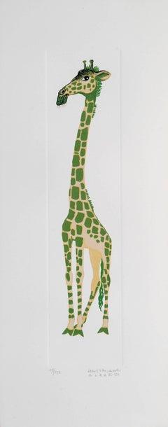 Giraffe - Original Lithograph by A. Mastroianni - 1970s