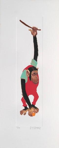 Monkey, Gazelle and Giraffe - Lithographs by Alberto Mastroianni - 1970 ca.