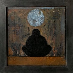 Mixed Media on Wood Board Painting -- Sages Series