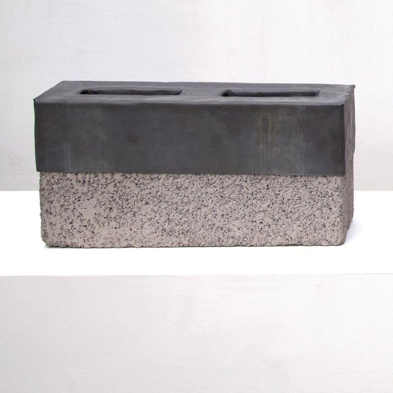 Sculpture, Cinder Blocks For my Father - Conceptual Art by Alberto Montaño Mason