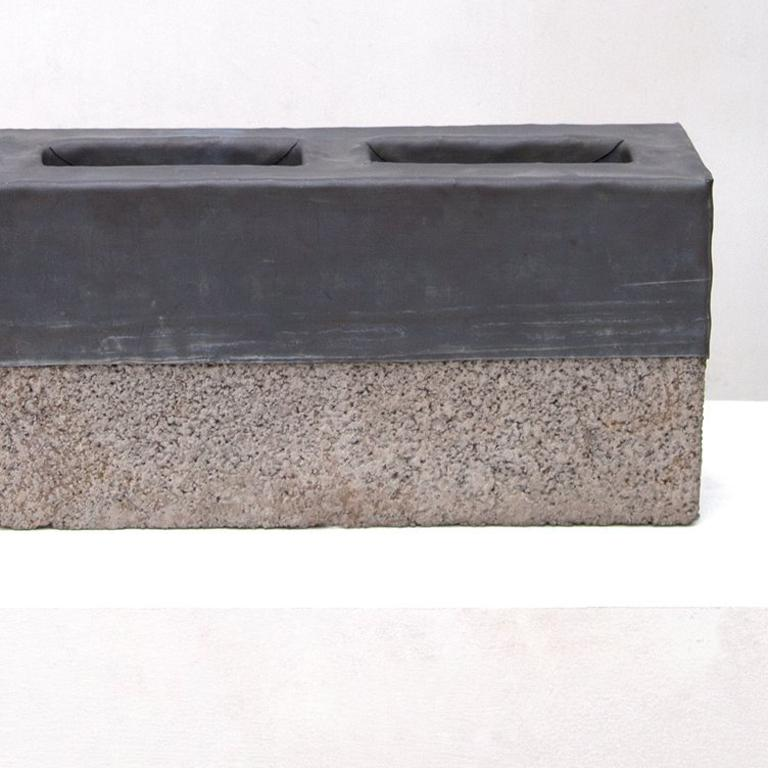 Ash and lead blocks.  Piece made of 3 blocks  Exhibited at the International Art Fair, Zona Maco 2019 in Mexico City. Exhibited at Mana Contemporary at Jersey City, New Jersey in 2018.