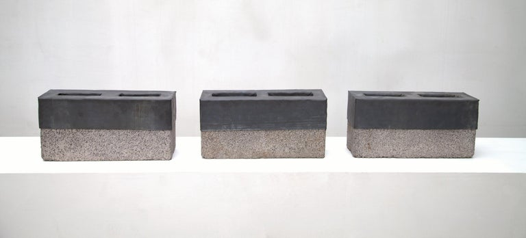 Sculpture, Cinder Blocks For my Father - Art by Alberto Montaño Mason