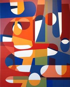 """Alberto Murillo, """"Sagrada Familia"""", Paint on Canvas, 2019"""
