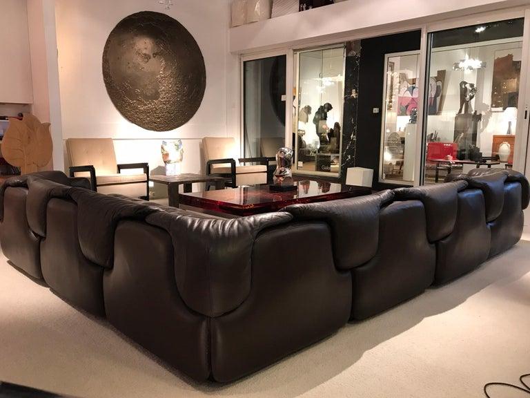 Alberto Roselli Leather Modular Sofa For Sale 2