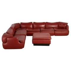 """Alberto Rosselli """"Confidential"""" Leather Sectional by Saporiti"""