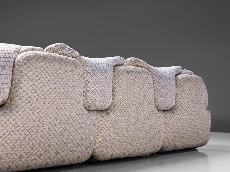 Alberto Rosselli for Saporiti 'Confidential' Corner Sofa For Sale 3