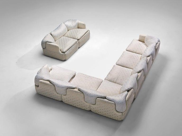 Alberto Rosselli for Saporiti 'Confidential' Corner Sofa For Sale 6