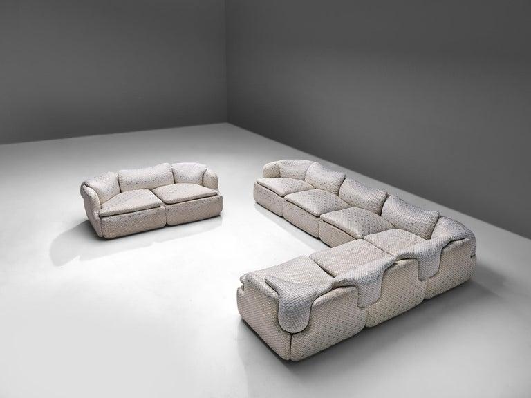 Alberto Rosselli for Saporiti 'Confidential' Corner Sofa For Sale 7