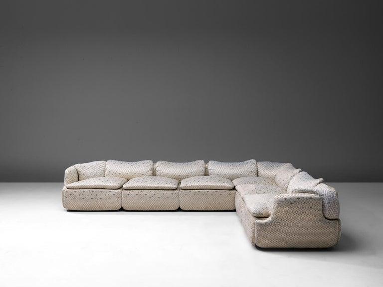 Italian Alberto Rosselli for Saporiti 'Confidential' Corner Sofa For Sale