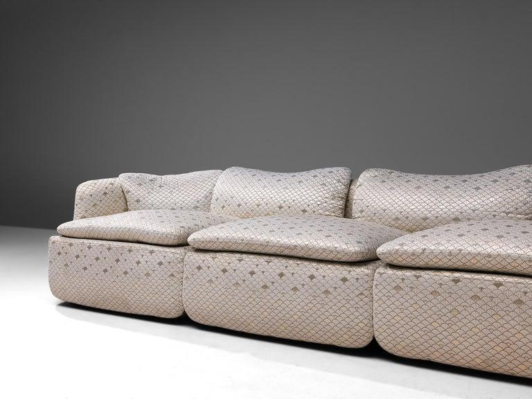 Alberto Rosselli for Saporiti 'Confidential' Corner Sofa In Good Condition For Sale In Waalwijk, NL